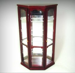 MINIATURE Opening Mirrored Mahogany Curio Cabinet for 1:12 Scale Dollhouse – My Mini Garde ...