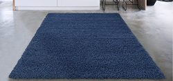 Sweethome Stores Cozy Collection Plush Luxurious Solid Navy Solid Design (7'10 X 9'1 ...