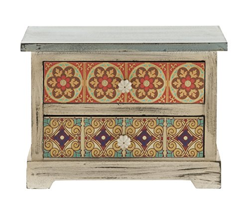 Deco 79 56651 Wood & Canvas Accent Chest