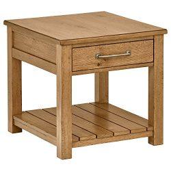 Stone & Beam Parson End Table, 26″ L, Oak