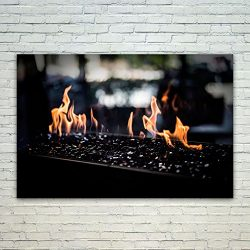 Westlake Art – Poster Print Wall Art – Flame Fireplace – Modern Picture Photog ...