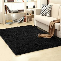 LOCHAS Ultra Soft Indoor Modern Area Rugs Fluffy Living Room Carpets Suitable for Children Bedro ...