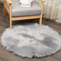 Rug Pad,Putars Luxury Soft Artificial Sheepskin Rug Chair Cover Artificial Wool Warm Hairy Carpe ...