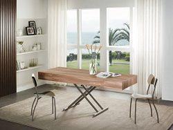 Viva Home LLC H-1002WN Amelia Coffee Table, Walnut