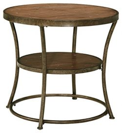 Ashley Furniture Signature Design – Nartina End Table – Vintage Casual – 1 She ...