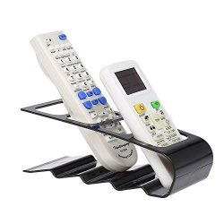 Remote Control Holder 4 Section Wrinkled Remote Control Container Rack TV Remote Control Organiz ...