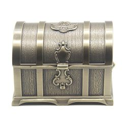 AVESON Rectangle Vintage Metal Treasure Chest Trinket Jewelry Box Gift Box Ring Case for Girls L ...