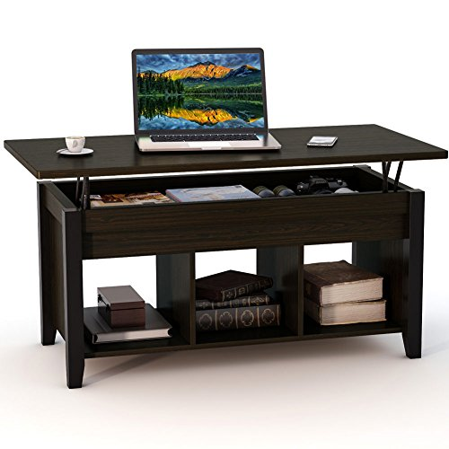 Lift Top Coffee Table With Hidden Storage Compartment: LITTLE TREE Lift Top Coffee Table With Hidden Storage