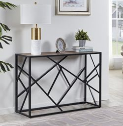 "Homissue 30"" Height Console Sofa Table with Sturdy Criss-cross Design for Hallway / Living Room  ..."