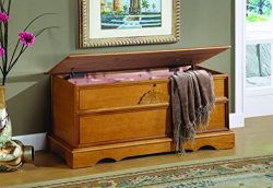 Coaster Cedar Chest with Lock, Oak