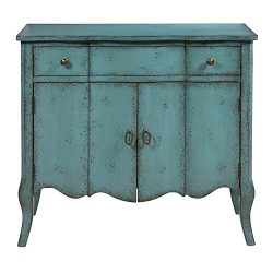 Pulaski P017011 Distressed Turquoise Accent Chest, Blue