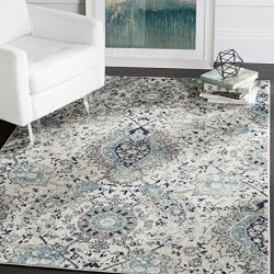 Safavieh Madison Collection MAD600C Cream and Light Grey Bohemian Chic Paisley Area Rug (5&#8217 ...