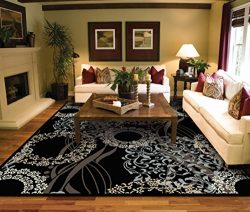 Large Rugs for Living Room 8×10 Black Clearance Area Rugs 8×10 Under 100