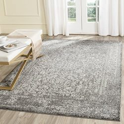 Safavieh Evoke Collection EVK256D Vintage Oriental Grey and Ivory Area Rug (4′ x 6′)