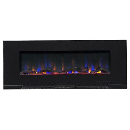 Touchstone ValueLine 50″ 10-Color, Recessed Wall Electric Fireplace, 50 Inch Wide, Logset  ...