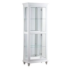 Bowery Hill Small Curio Cabinet in White