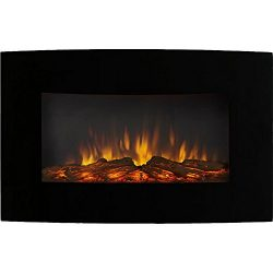 Regal Flame Broadway 35 Inch Ventless Heater Electric Wall Mounted Fireplace – Log
