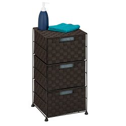 Honey-Can-Do OFC-03714 Double Woven 3-Drawer Storage Organizer Chest, Espresso Brown, 12.01L x 1 ...