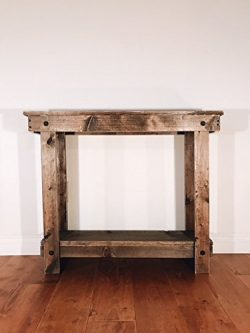 Note Card Cafe Rustic Handcrafted Reclaimed Console Table – Self Assembly – Absolute ...