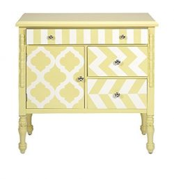 IMAX 74290 Hardy Graphic Print Chest, Yellow