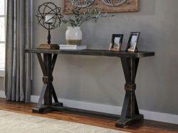 Ashley Furniture Signature Design – Beckendorf Casual Sofa or Entryway Table – Black