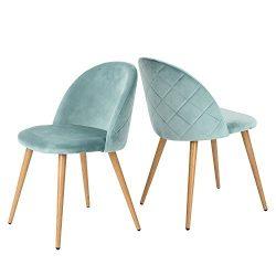 Green Forest living Room Leisure Chair. Wood Legs Velvet Fabric Cushion Seat Mental Wood Legs Ra ...