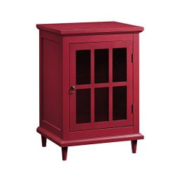 Sauder 420145 Barrister Lane Side Table, Red