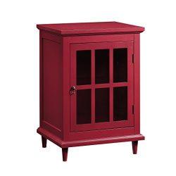 Sauder 420145 Barrister Lane Side Table, Red