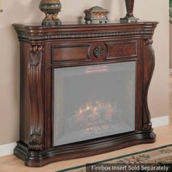 ClassicFlame 33WM881-C232 Lexington Wall Fireplace Mantel, Empire Cherry (Electric Fireplace sol ...
