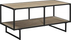 Ameriwood Home  Emmett TV Stand/Coffee Table for TVs up to 42″ wide, Weathered Oak