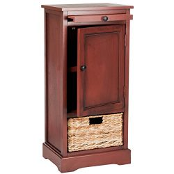 Safavieh American Homes Collection Raven Red Tall Storage Unit
