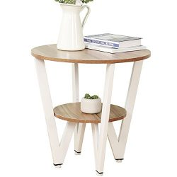 Dland Side End Table 21.7″, Composite Wood Board, Nightstand/Coffee Table/Couch Table For  ...
