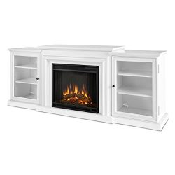 Real Flame 7740E Frederick Entertainment Center with Electric Fireplace, Large, White