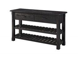 Martin Svensson Home 890242 Lancaster Sofa-Console Table, Antique Black
