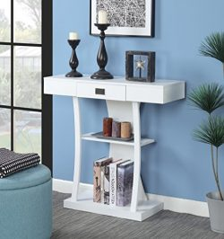 Convenience Concepts 111960W Newport Console Table Harri, White