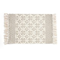 Cotton Printed Rug, Seavish Decorative Grey Moroccan Hand Woven Rag Rug Entryway Thin Throw Mat  ...