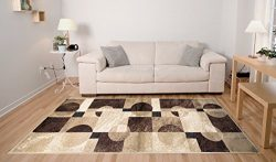 Adgo Atlantic Collection Modern Abstract Geometric Soft Pile Contemporary Carpet Thick Plush Sta ...