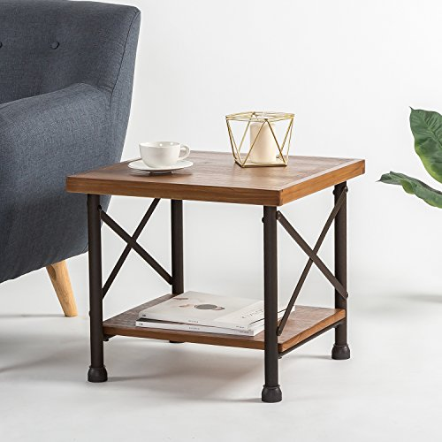 Zinus Industrial Style Side Table Forrealdesigns