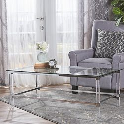 Christopher Knight Home 302312 Bayla Coffee Table, Clear