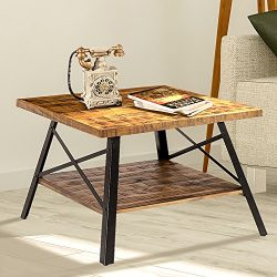 "Olee Sleep 24"" Solid Wood & Dura Metal Legs Coffee Table/Tea Table/End Table/Side Table/Offi ..."