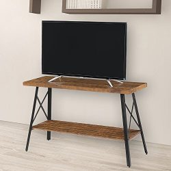 "Olee Sleep 48"" Solid Wood & Dura Metal Legs Sofa Table/TV stand/End Table/Side Table/Accent  ..."