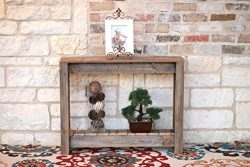 36″ Natural Console Table