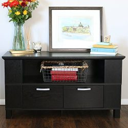 Walker Edison 44″ Columbus TV Stand Console, Black