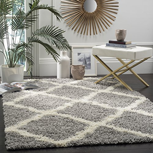 Safavieh Dallas Shag Collection SGD257G Grey and Ivory Area Rug (8′ x 10′)