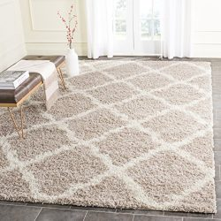 Safavieh Dallas Shag Collection SGD257D Beige and Ivory Area Rug (6′ x 9′)