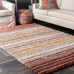 nuLOOM Cine Collection Hand Made Area Rug, 5-Feet by 8-Feet, Red Multi