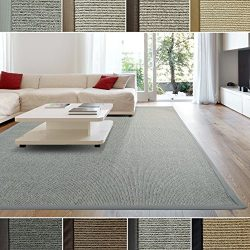 iCustomRug Zara Contemporary Synthetic Sisal Rug, Softer Than Natural Sisal Rug, Stain Resistant ...