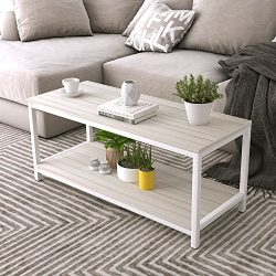 "Dland Coffee Table TV Stand 39"", Rectangular Composite Wood Board, Cocktail Table/Side Tab ..."