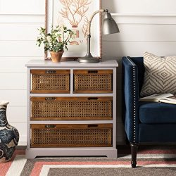 Safavieh American Homes Collection Jackson Grey 4-Drawer Storage Unit