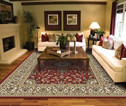 Large Rugs for Living Room Red Traditional Clearance Area Rugs 8×10 Under 100 Prime Rugs